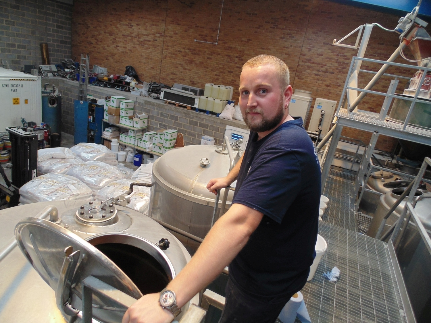 Dean in brewery